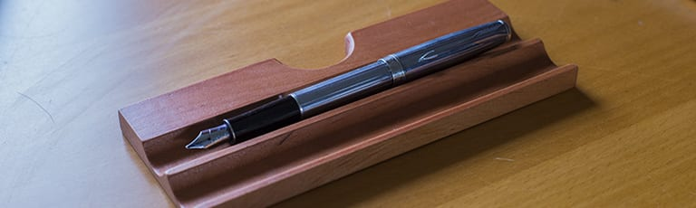 Parker Sonnet silver fountain pen