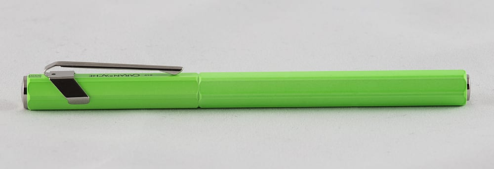 Caran d'Ache 849 Fluor Green complete fountain pen