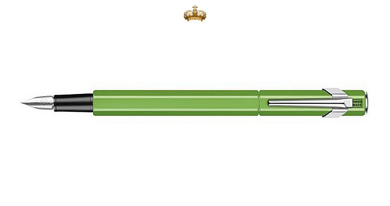Caran d'Ache 849 Metal Green Fluo Fountain Pen