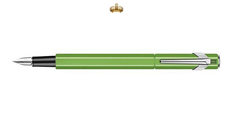 Caran d'Ache 849 Metal Green Fluo Vulpen