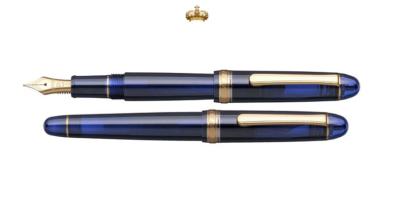 Platinum #3776 Chartres Blue Fountain Pen (Special Edition)